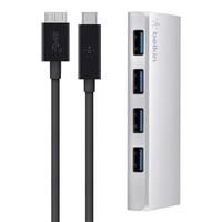Belkin F4U088tt USB 3.0 (3.1 Gen 1) Type-C 5000Mbit/s Silver interface hub