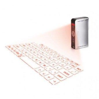 EPIC Laser Tastatur virtuelle Lasertastatur mit integrierter Maus QWERTZ Laserprojektion Bluetooth USB-Anschluss Li-Ion Akku