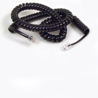 Belkin Coiled Telephone Handset Cord, 12 feet (3.7m), Black 3.7m Black Telephony Cable